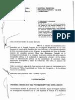 Sala Penal Transitoria de la Corte Suprema declara procedente solicitud de extradición activa de César Hinostroza