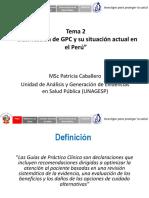 Tema 2 Clasificación de GPC y Su Situacion Actual en El Peru