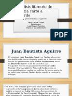 Analisis Literario de Poema Carta a Lizardo