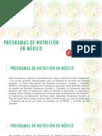Programas de Nutricion en Mexico