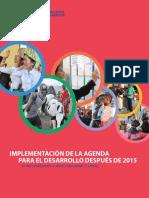 PNUD - Implementación de La Agenda Para El Desarrollo Después de 2015