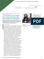 """Página_12 __ Dialogos __ """"La Educación Sexual Integral Hace a La Escuela Más Justa, Pero También Más Interesante"""""""