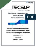 Equipo y Componentes Industriales - Teoria de Bernoulli