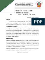 resolución directoral 2018
