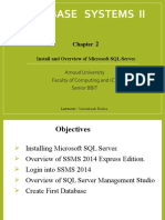 Ch 2 - Install and Overview of Microsoft SQL Server