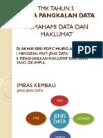 Memahami Data Dan Maklumat Tahun 5