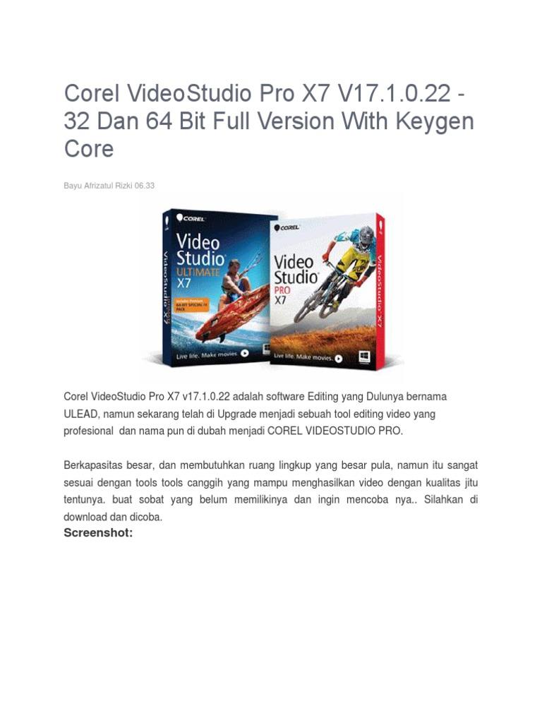 corel videostudio ultimate x7 keygen