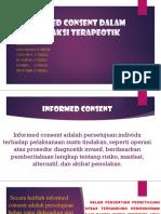 Informed Consent Dalam Transaksi Terapeotik
