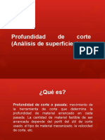 Profundidad de Corte (Análisis de Superficies)