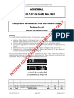 PWA IAN 002 Rev A1 - Safety Barrier Performance Levels & Selection Criteria