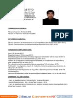 Cv Jorge Tito Mamani Ing Ambiental