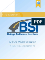 API Soil Model Validation
