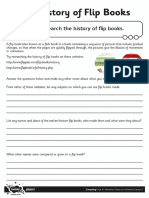 Activity Sheet the History of Flip Books Editable