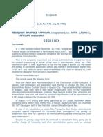 A.c. No. 4148 July 30, 1998 Remedios Ramirez Tapucar vs. Atty. Lauro l. Tapucar