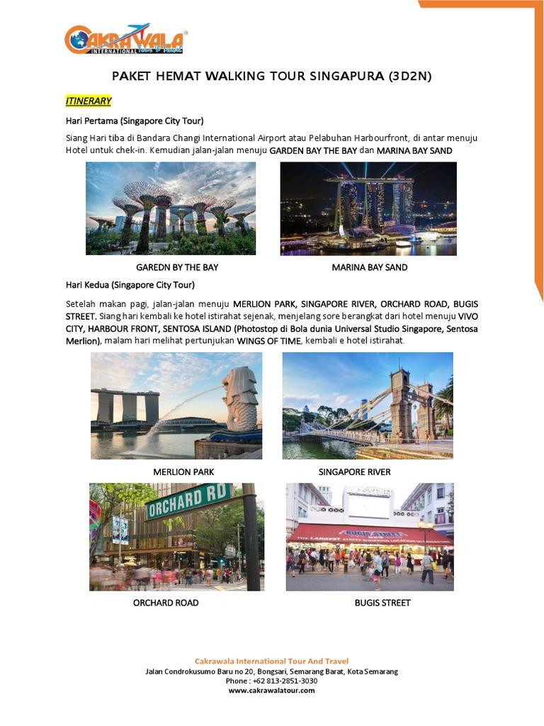 Paket Tour Singapore 3d2n Tiket Masuk Garden By The Bay Anak