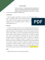 Artículo científico sobre tipos de informe