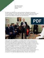 Discursul Sfântului Părinte Papa Francisc adresat delegației de rabini participanți la Congresul Evreilor Munților luni, 5 noiembrie 2018