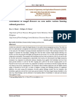 Assessment of fungal diseases on corn under various farming cultural practices