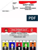 Surat Suara Calon Kades Dudepo