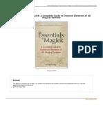 The Essentials of Magick a Complete Guide to Com 1484890108