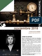 CULTURA | Programación de la Filmoteca Municipal de Coslada / Noviembre 2018