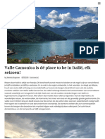 Valle Camonica, the place to be! _ Daily Cappuccino