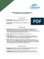 Agenda, Semaine 44