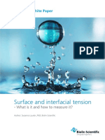 Surface and Interfacial Tension What is It and How to Measure It