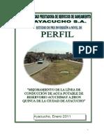 _mejoramiento de La Linea de Conduccion de Agua Potable