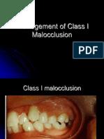 Class I Malocclusion