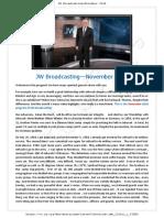 JW Broadcasting—November 2018
