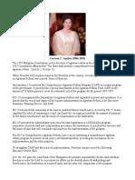 Cory Conjuangco - Aquino (Agrarian Reform)