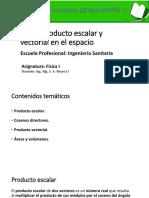 6 PRODUCTO ESCALAR Y VECTORIALVECTORES EN EL ESPACIO.pptx