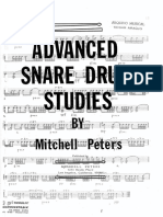 Advance snare drum studies - Mitchell Peters