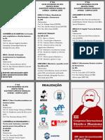 Folder Do III Congresso Direito e Marxismo