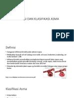 Definisi Dan Klasifikasi Asma