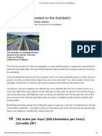 Top 10 Speeds Clocked on the Autobahn _ HowStuffWorks