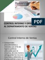 Control Interno y Operativo Al Departamento de Ventas