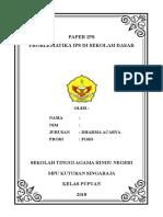 Paper Problematika Ips Sd