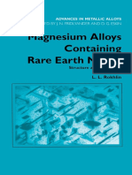 Magnesium Alloys Containing Rare Earth Metals
