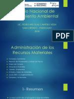 Administración de los recursos materiales