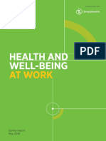 Health and Well Being at Work (2018)