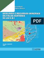 geologia e recursos minerais sertania