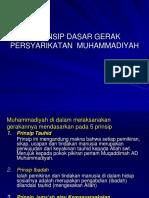 Prinsip Dasar Gerak Persyarikatan Muhammadiyah
