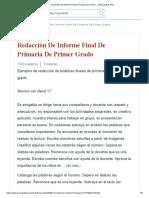Ejemplo de Informe de Desempeño de Un Estudiante... _ Monografías Plus