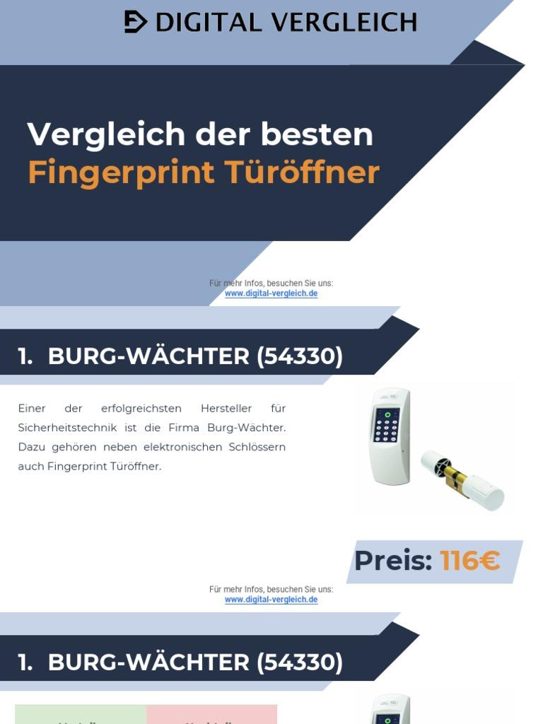 Elektronisches Turschloss Vergleich Der Besten Fingerprint Turoffner