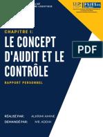 Concept d'Audit Et Le Contrôle
