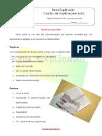 1.1 Ficha Informativa - Escrever Uma Carta