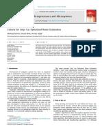 Criteria for Solar Car Optimized Route Estimation