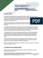 Gestion y Admi. de La Planificacion Urbana